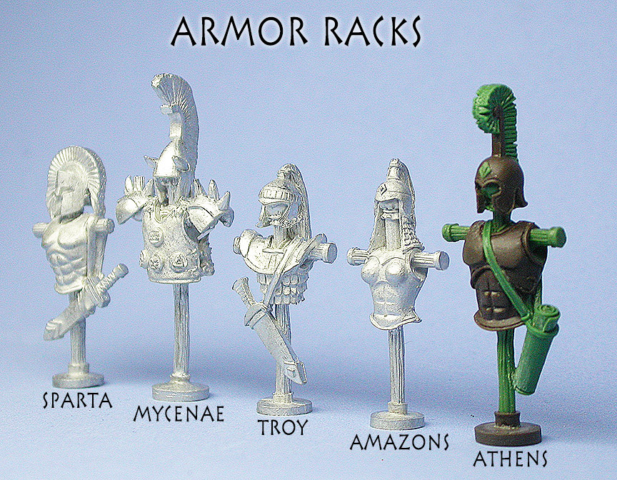 Greek Armor Racks - front