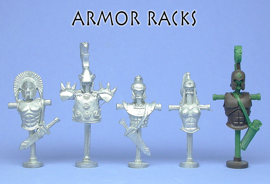 Greek Armor Racks - angle