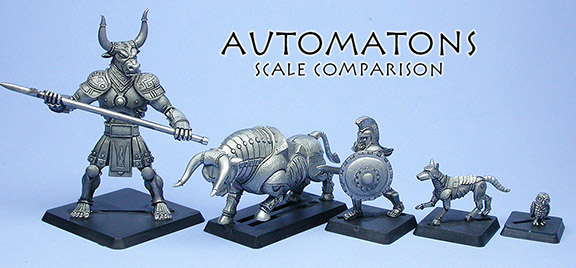 Automatons scale comparison