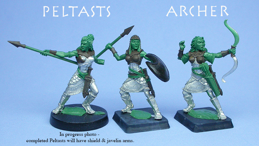 Peltasts and Archer