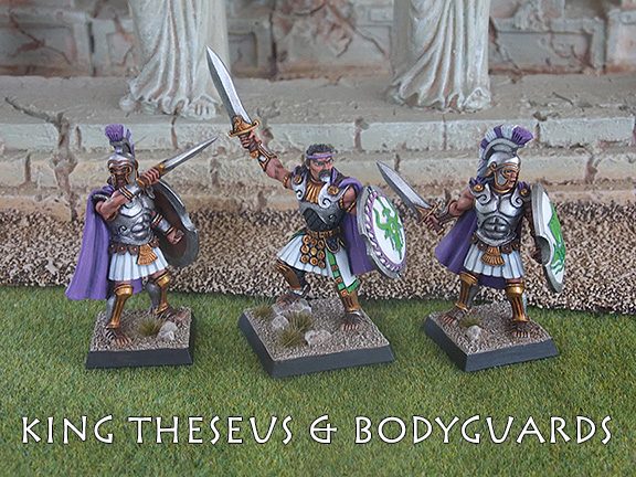 Theseus and bodyguards, painted by Eric Roof