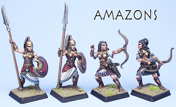 Amazons painted examples by Deborah FitzPatrick