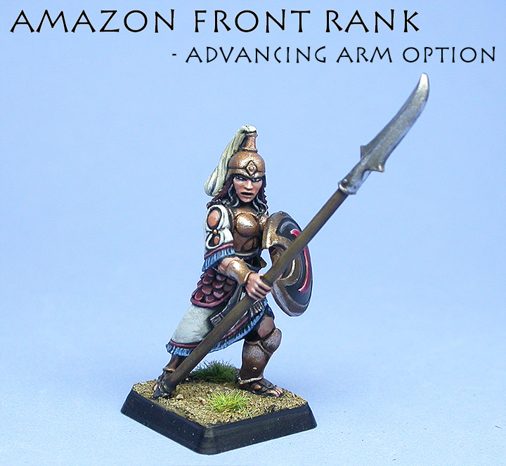 Advancing front rank arm option