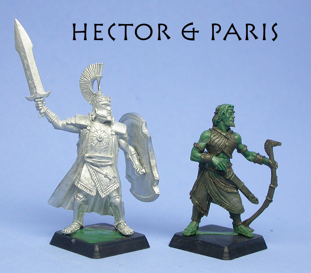 Hector and Paris, size comparison