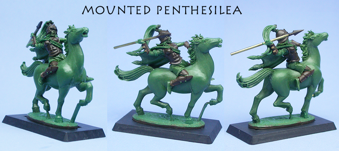 Mounted Penthesilea 1, sculpted by Chris FitzPatrick