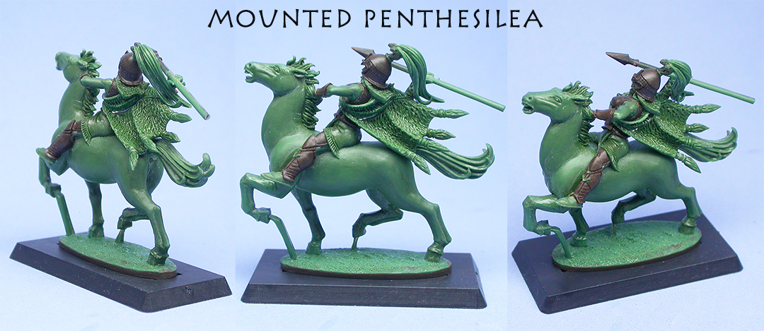 Mounted Penthesilea 2, sculpted by Chris FitzPatrick