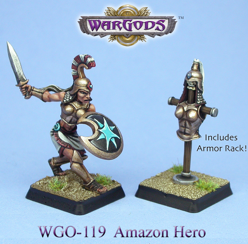 Amazon Hero with Armor Rack