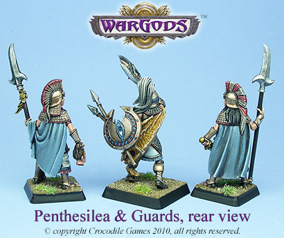 Queen Penthesilea and Guards, back view