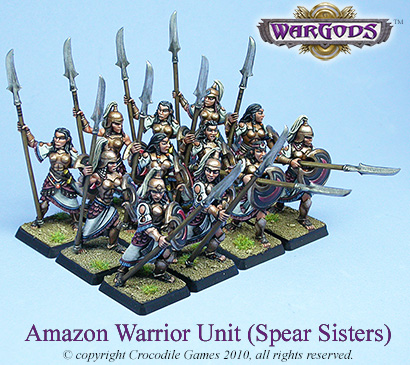 Amazon Warrior Unit - Spear Sisters